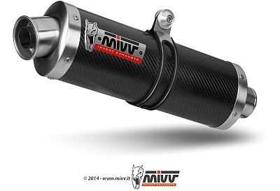Mivv BOLT-ON Oval Carbon  Kawasaki ZX-6 R, Bj. 1998-2001